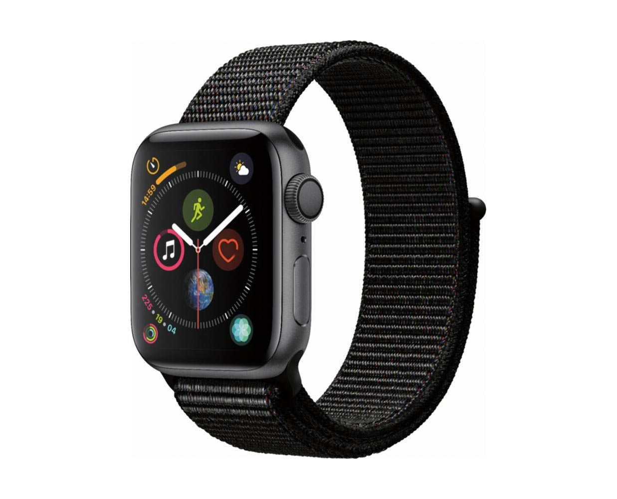 Смарт часы: Apple Watch Series 4 Space Gray Black Sport Loop 40mm, фотография №1