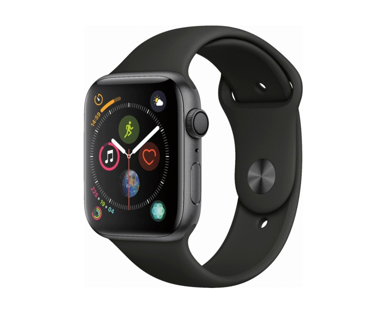 Смарт часы: Apple Watch Series 4 Space Gray Black Sport Band 44mm, фотография №1
