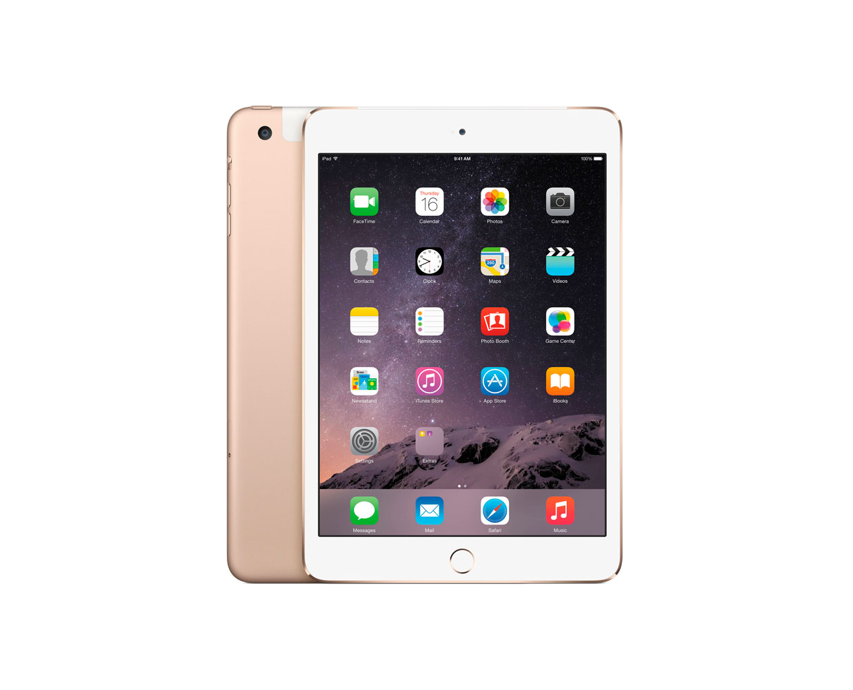Планшеты: iPad mini 3 128GB LTE Gold, фотография №1