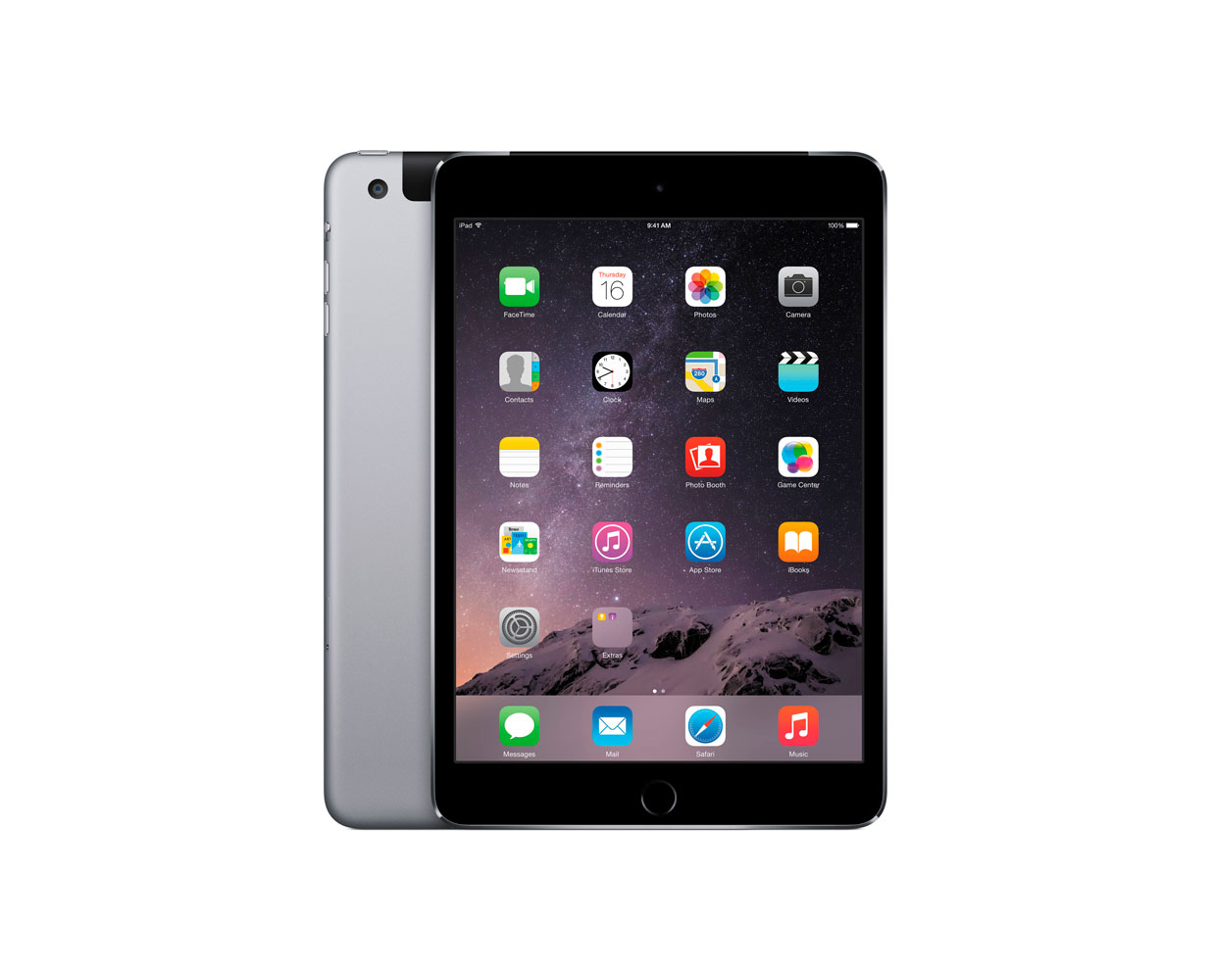 Планшеты: iPad mini 3 16GB LTE Space Grey, фотография №1