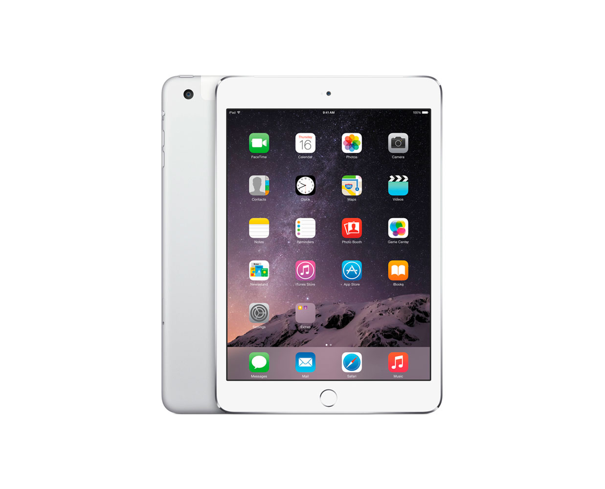 Планшеты: iPad mini 3 64GB LTE Silver, фотография №1