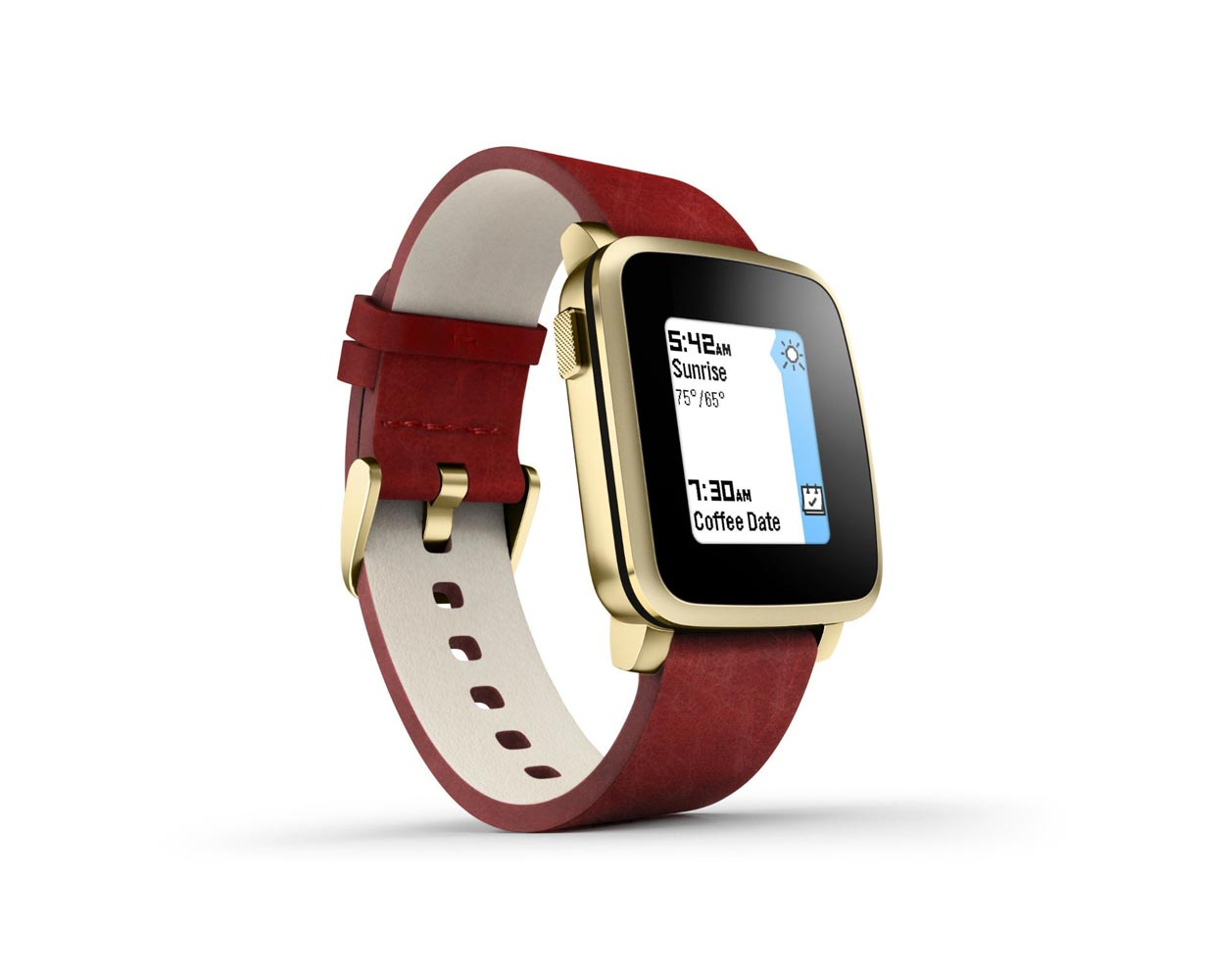 Смарт часы: Pebble Time Steel Gold 32 mm, фотография №1