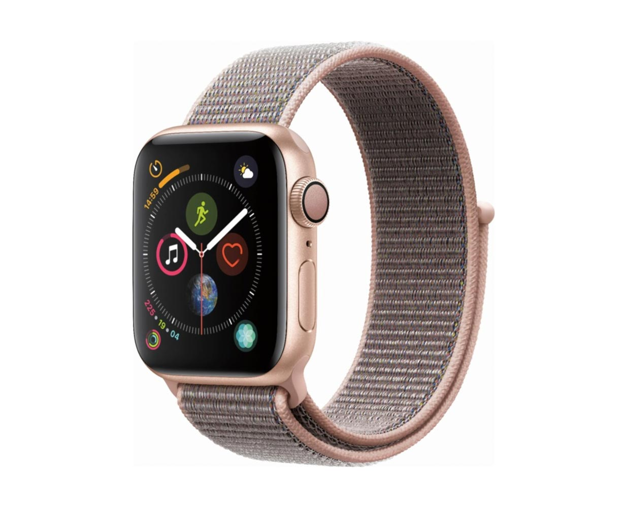 Смарт часы: Apple Watch Series 4 Gold Pink Sand Sport Loop 40mm, фотография №1