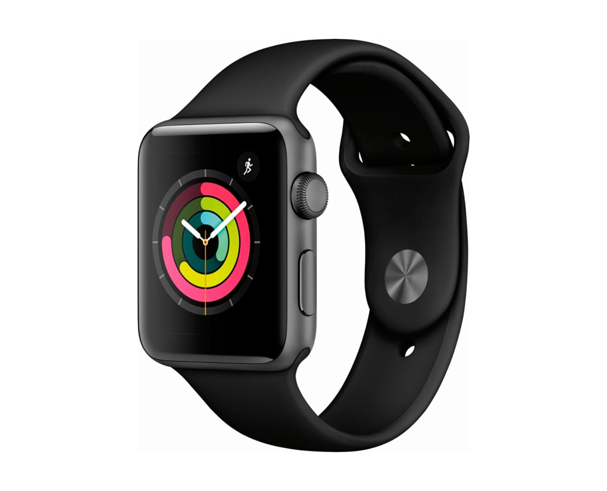 Смарт часы: Apple Watch Series 3 Space Gray Black Sport Band 42mm, фотография №1