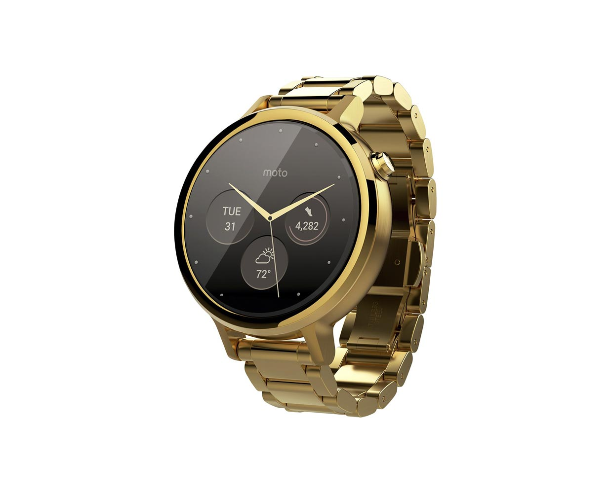 Смарт часы: Moto 360 2 Gold Metal 42mm, фотография №1