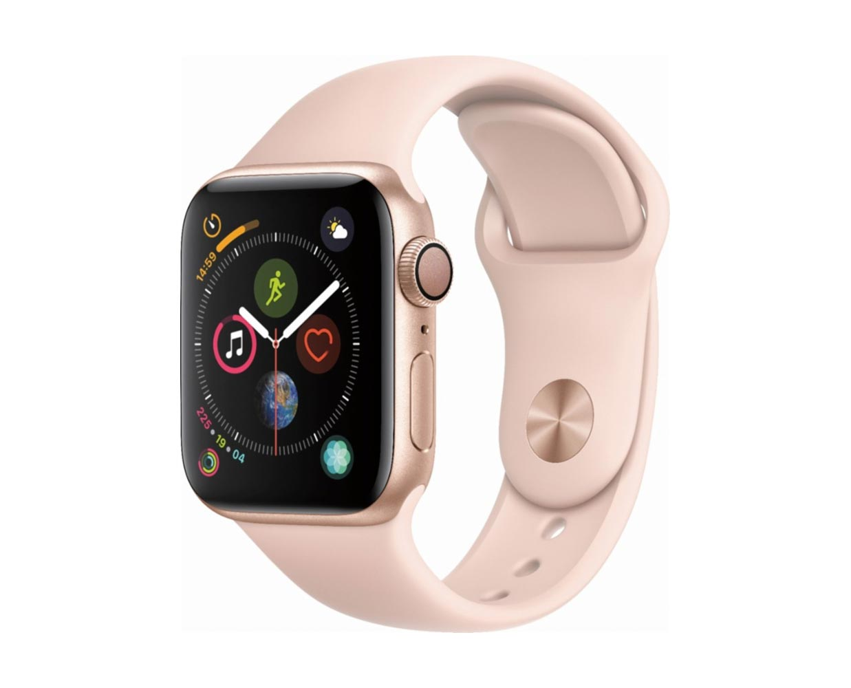 Смарт часы: Apple Watch Series 4 Gold Pink Sand Sport Band 40mm, фотография №1