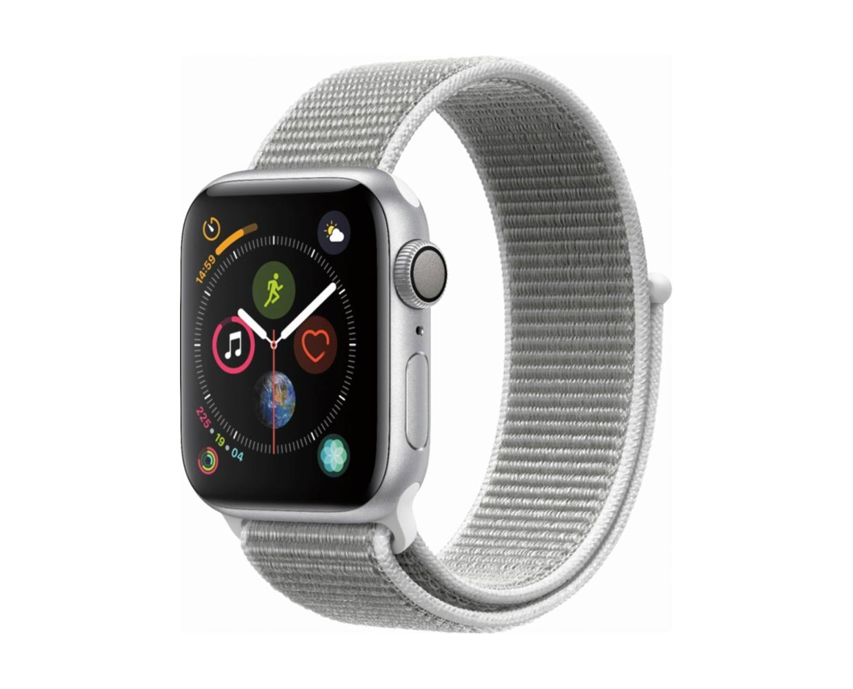 Смарт часы: Apple Watch Series 4 Silver Seashell Sport Loop 40mm, фотография №1