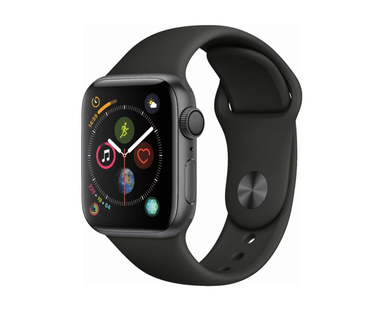 Смарт часы: Apple Watch Series 4 Space Gray Black Sport Band 40mm, фотография №1