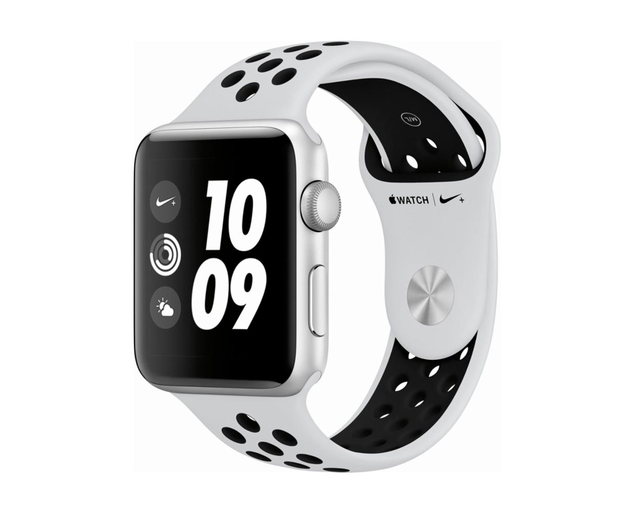 Смарт часы: Apple Watch Series 3 Nike+ Silver Platinum Sport Band 42mm, фотография №1