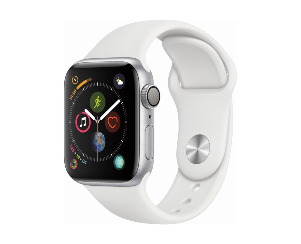 Смарт часы: Apple Watch Series 4 Silver White Sport Band 40mm, фотография №1