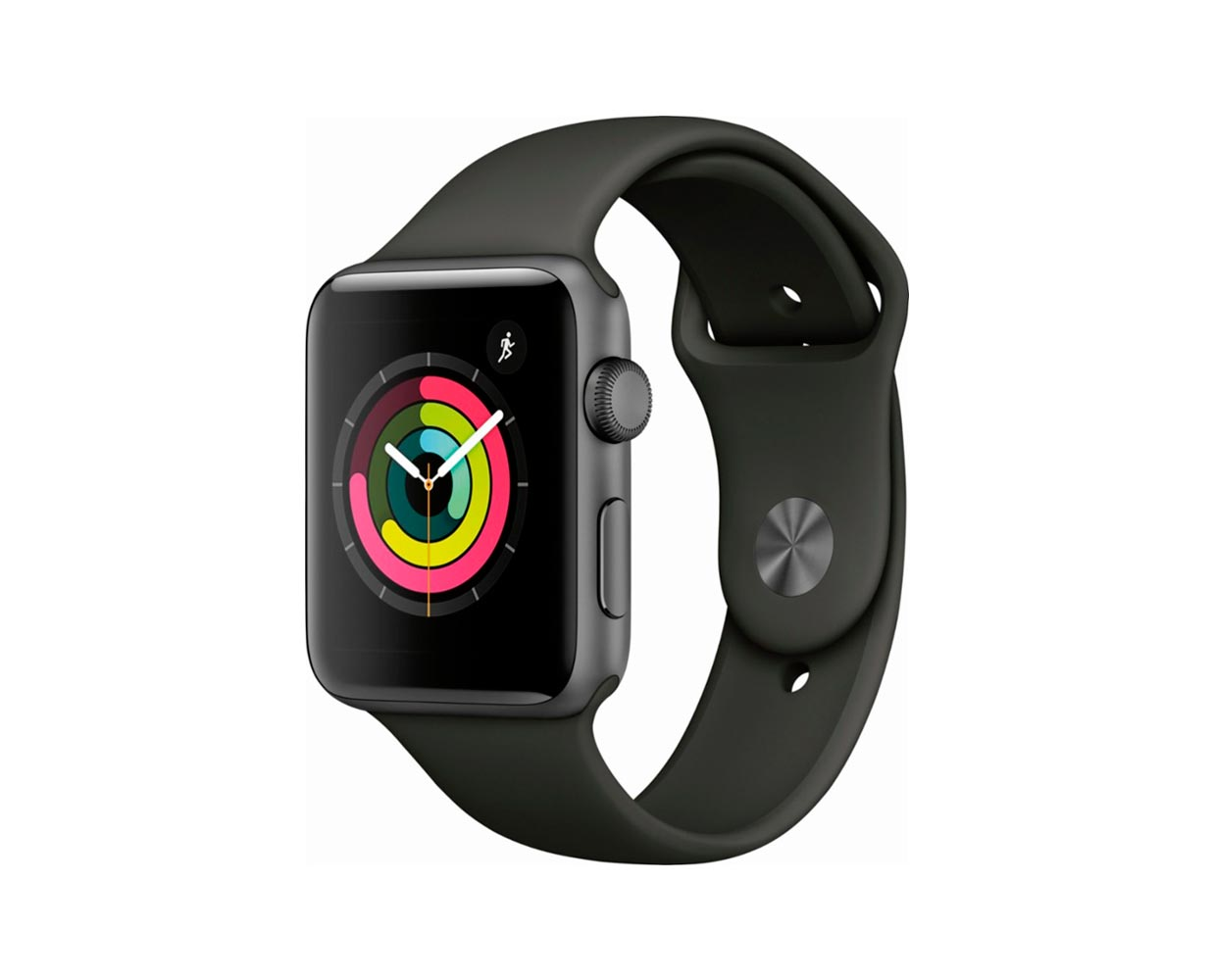 Смарт часы: Apple Watch Series 3 Space Gray Gray Sport Band 38mm, фотография №1