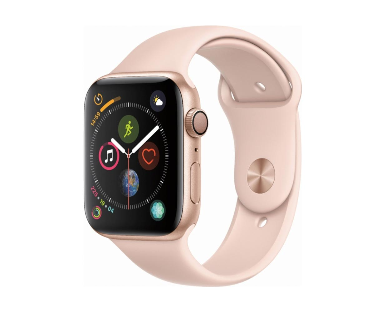 Смарт часы: Apple Watch Series 4 Gold Pink Sand Sport Band 44mm, фотография №1