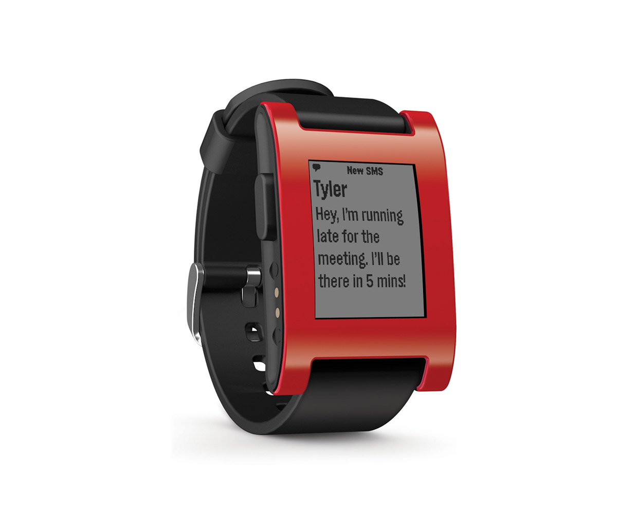 Смарт часы: Pebble Smartwatch Cherry Red, фотография №1