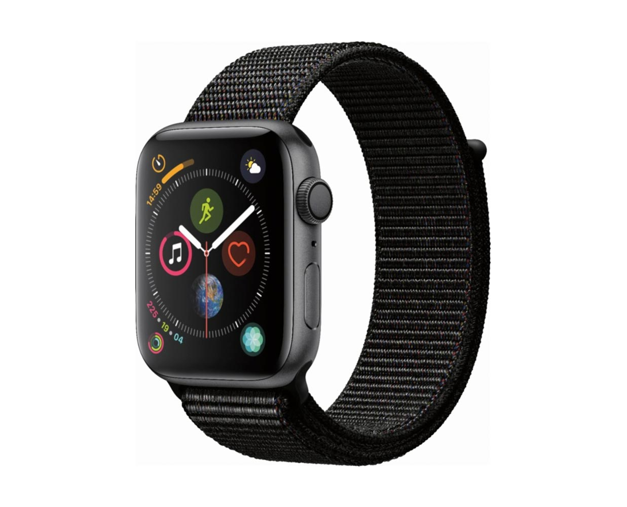Смарт часы: Apple Watch Series 4 Space Gray Black Sport Loop 44mm, фотография №1