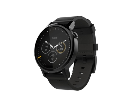 Moto 360 2 Black Leather 46mm