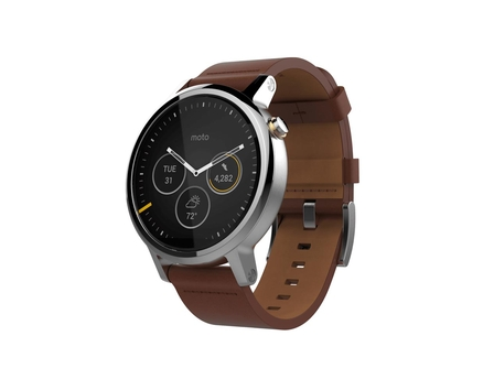 Moto 360 2 Silver Leather 46mm