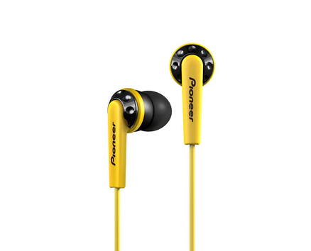 Pioneer Earphones Yellow