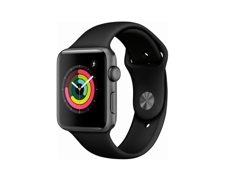 Apple Watch Series 3 Space Gray Black Sport Band 38mm